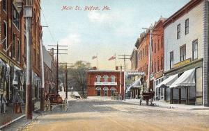 Belfast Maine~Main Street~Crockery Ware~Room Papers~Davis Mfg~Shoe Store~1908