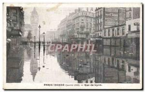 Old Postcard Floods January 1910 Paris Street Lyon