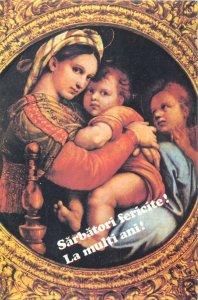 Postcard Raffael Madonna mit Kind