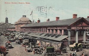 BOSTON, Massachusetts, PU-1911; Boston Market, Horse Carriages