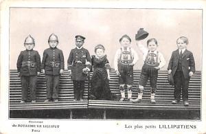 Circus Post Card, Old Vintage Antique Postcard du Royaume de Lilliput Les Plu...