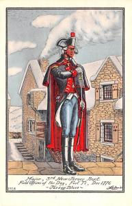 Colonial Post Card Old Vintage Antique Postcard Major, 3rd New Jersey Regt, F...
