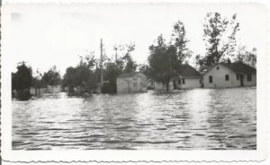 Flooded Homes and Streets from 1920's Real Photograph Vintage Photograph