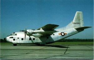 Wright Patterson Air Force Base OH, Fairchild C-123K, Chrome Ohio Postcard