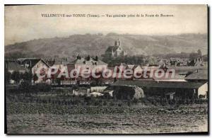 Old Postcard Villeneuve sur Yonne Yonne general shooting Road Rousson