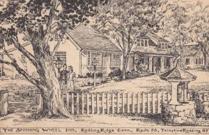 REDDING RIDGE , Connecticut , PU-1940 ; The Spinning Wheel Inn; AS: Hannah Smith