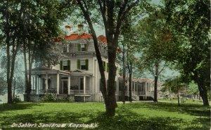NY - Kingston. Dr. Sahler's Sanitarium.  *RPO- Albany, Kingston & New York Ra...