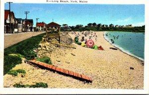 Maine York Scene On Long Beach