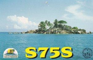The Seychelles QSL Amateur Radio Postcard Type Card