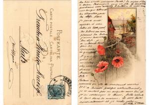 CPA Blumen am Wege Meissner & Buch Litho Serie 1156 (730606)