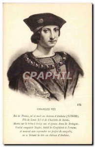 Old Postcard King Charles VIII of France died at chateu d & # 39Amboise