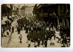 236385 GERMANY Frankfurt soldier ADVERTISING Vintage photo PC