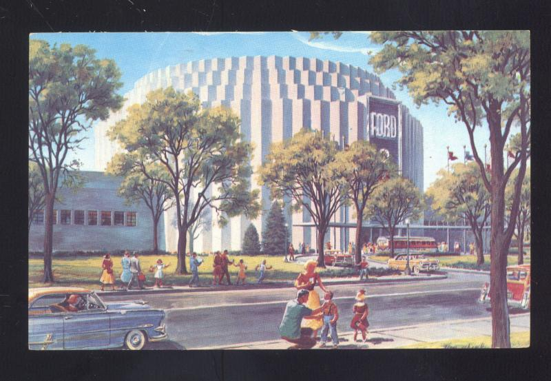 1954 FORD ROTUNDA DEARBORN MICHIGAN FORD MOTOR CO. ADVERTISING POSTCARD
