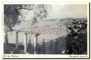 Old Postcard Menton Garavan View Shooting