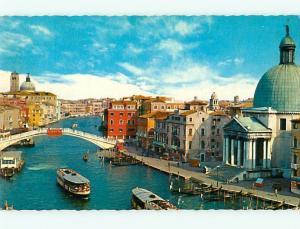 Venezia Fleet of Italy Bridge Scalzi Gondolas Canals of Venice Postcard # 7152