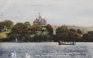 Guided Boat Trips On Lake Takapuna Auckland New Zealand Old Postcard