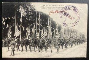 Mint France Real Picture Postcard RPPC American Troops Parade Champs-Élysées