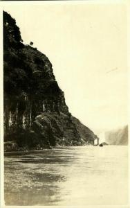 china, Upper Yangtze River, Sailing Boats on the River (1920s) RPPC Postcard