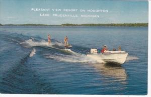 Michigan Prudenville Water Skiing On Houghton Lake Pleasant View Resort