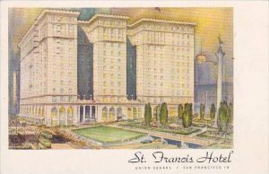 California San Francisco One Of The Worlds Great Hotel St Francis Hotel