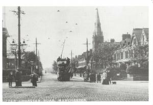 Reproduction Vintage 1905 Postcard, Tram on Upper Chorlton Road Manchester 84T