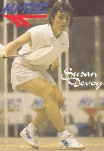 Susan Devoy New Zealand Squash Tennis Champion Rare Photo Plain Back Postcard