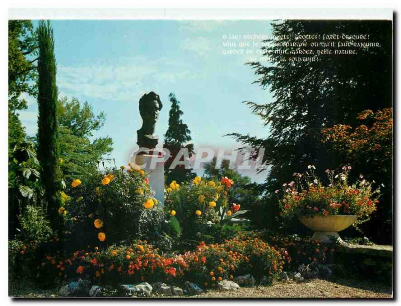 Postcard Modern Poet Tresserve Savoie Lake Bourget