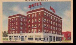 Texas Corsicana The Navarro Hotel Albertype