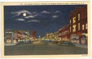 Hay Street Looking Towards Old Market House At Night, Fayetteville, North Car...