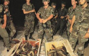 Small Part of the Large Cache of Weapons seized by U.S. Troops, 1983