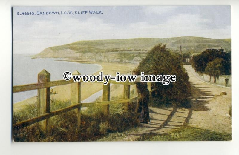 h1253 - Isle of Wight - The Cliff Walk from Sandown,towards Shanklin - Postcard