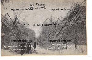 Ice Storm 1909, Gloversville NY