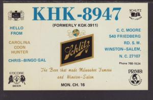KHK-8947,Winston Salem,NC Postcard