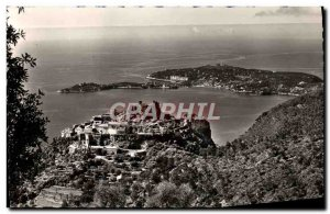 Modern Postcard Eze Village Generale View Au Fond Cap Ferrat