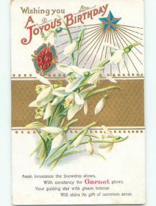 Pre-Linen GARNET STONE FOR A JOYOUS BIRTHDAY - JEWELRY GEMSTONE J2901