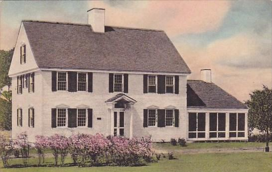 Gov Oliver Wolcott House Dearborn Michigan Handcolored Albertype