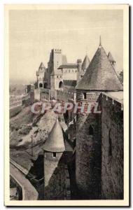 Old Postcard Cite De Carcassonne Castle