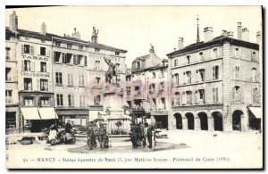 Old Postcard NANCY equestrian statue RENE