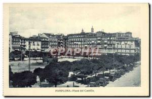 Old Postcard Pamplona Palaz del Castillo