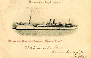 Norddeutscher Lloyd, Bremen - SS Hohenzollern, 1903 Private Mailing Card. *...
