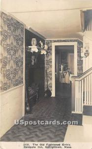 The Old Fashioned Entry of Baldpate Inn Georgetown MA 1910