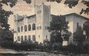 German East Africa Tanzania Bagamoyo Kaiserliches Bezirksamt DO Afrika Postkarte