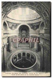 Old Postcard From Paris Interior Dome Invalides Mansard
