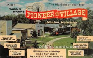 Minden, Nebraska, NE, USA Postcard Harold Warp's Pioneer Village Unused