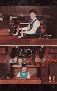 Organist at the Silver Fox Restaurant Ramsey New Jersey American 1960s Postcard
