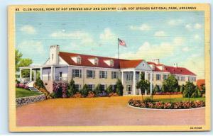 *Club House Hot Springs Golf Country Club National Park Arkansas Postcard C54
