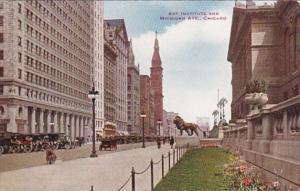 Illinois Chicago Art Institute and Michigan Avenue 1914