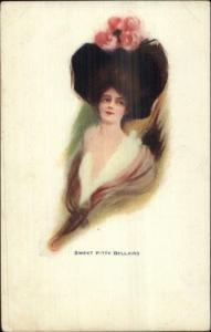 Beautiful Woman - Sweet Kitty Bellairs c1905 UDB Postcard