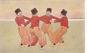Dutch Boys Dancing In Circle