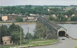 Longest Covered Bridge in the World, HARTLAND, New Brunswick, Canada, 40-60´s